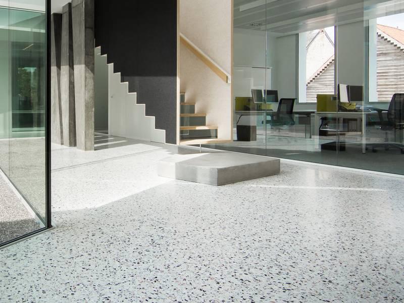 Sàn nhà sử dụng vật liệu terrazzo
