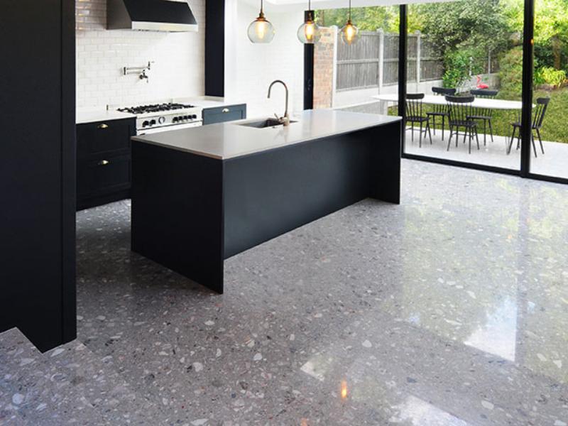 Sàn terrazzo mang thiết kế sang trọng và hiện đại
