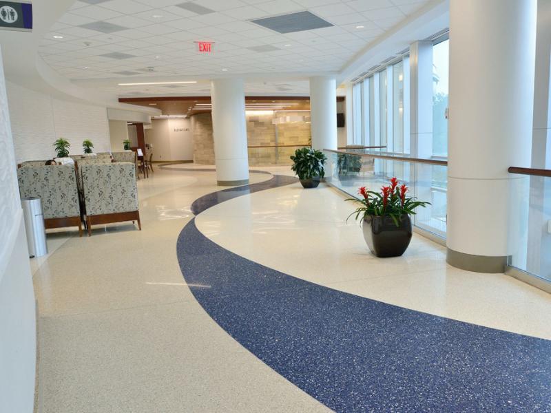 Sàn terrazzo trong ứng dụng sàn bệnh viện