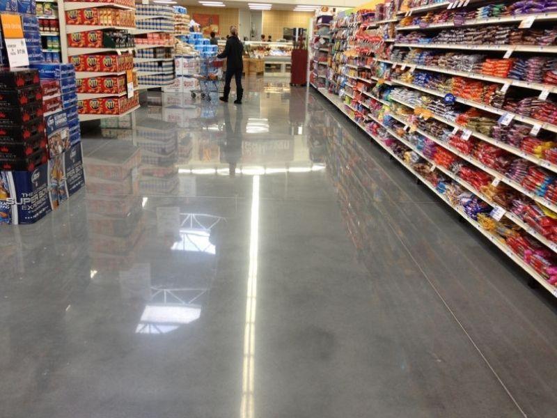 ứng dụng sàn bê tông mài