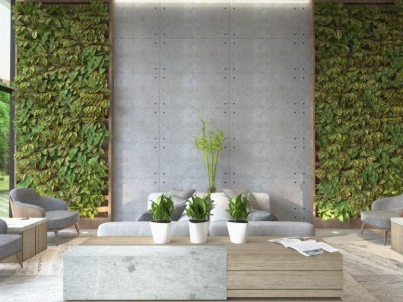 ứng dụng của tường hiệu ứng bê tông